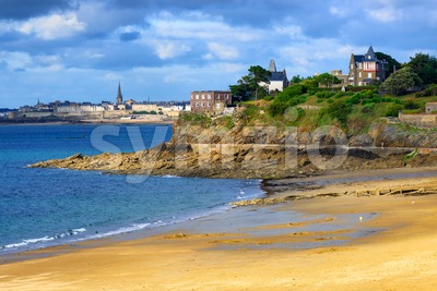Brittany atlantic coast with St Malo and Dinard towns Stock Photo