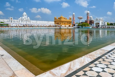 Golden Temple Harmandir Sahib, Amritsar, Punjab, India Stock Photo