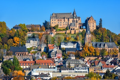 Marburg historical medieval Old Town, Germany Stock Photo