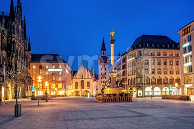 Munich Old town, Marienplatz and the Old Town Hall, Germany Stock Photo