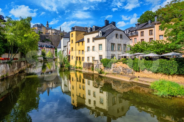 Luxembourg city, the capital of Grand Duchy of Luxembourg Stock Photo