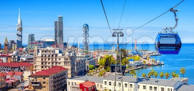 Batumi city, Georgia, panoramic view of the skyline and port Stock Photo