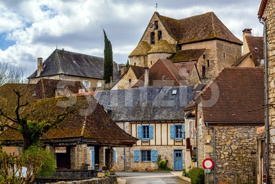 Creysse, a typical french village in Haut Quercy, Lot department, Martel, France Stock Photo