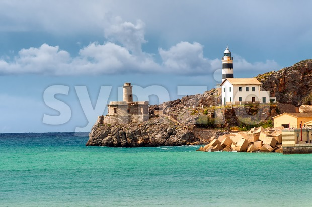 Lighthouse of Soler, Majorca, Spain Stock Photo