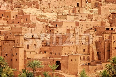Clay kasbah Ait Benhaddou, Morocco Stock Photo