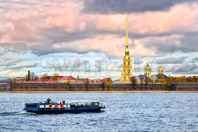 St. Petersburg, Russia, Peter and Paul fortress Stock Photo