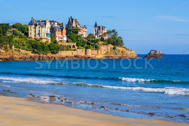 Sand Beach And Historical Villas In