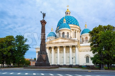 The Trinity Cathedral in Saint Petersburg, Russia Stock Photo