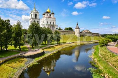 Historical Pskov Kremlin, Pskov, Russia Stock Photo