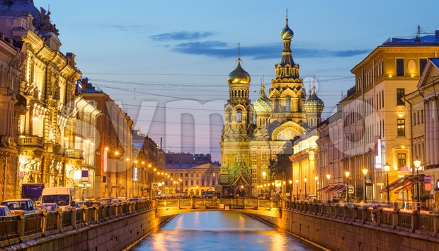 Church of the Savior on Blood, Saint Petersburg, Russia Stock Photo