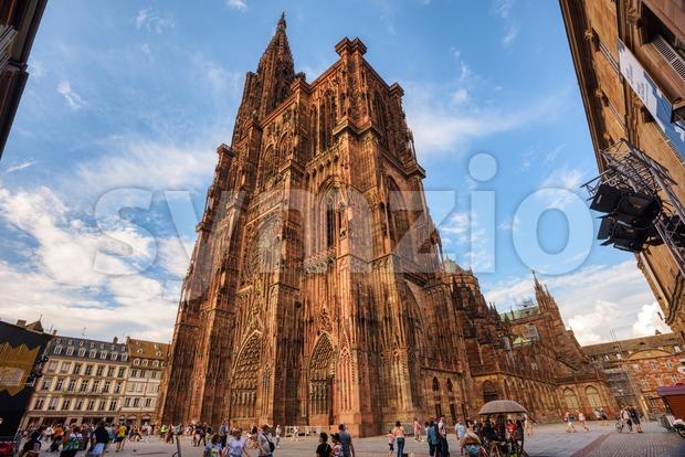 Strasbourg gothic Cathedral, Alsace, Strasbourg, France Stock Photo