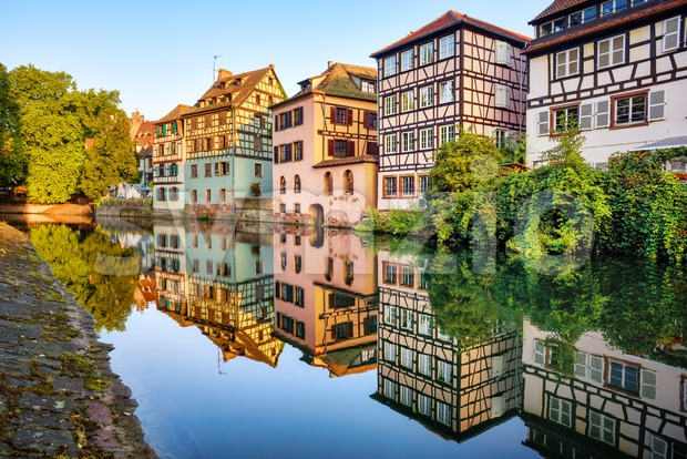 Traditional houses in the Old town of Strasbourg, France Stock Photo