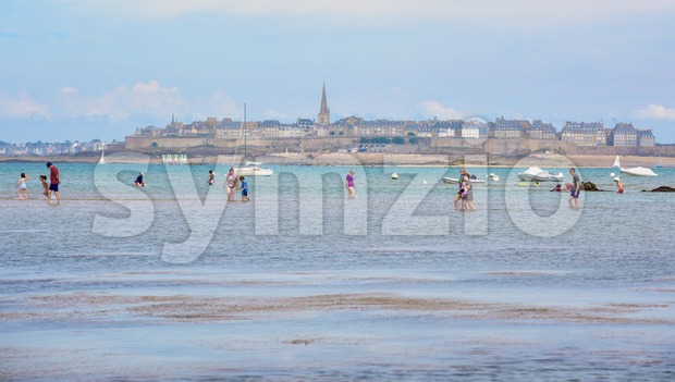Bay of St Malo, Brittany, France Stock Photo