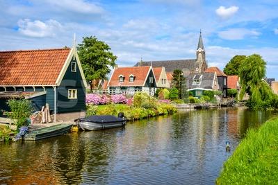 De Rijp village in North Holland, Netherlands Stock Photo