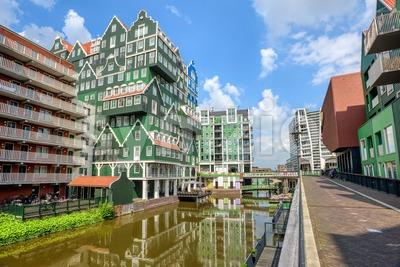 Zaandam town, North Holland, Netherlands Stock Photo