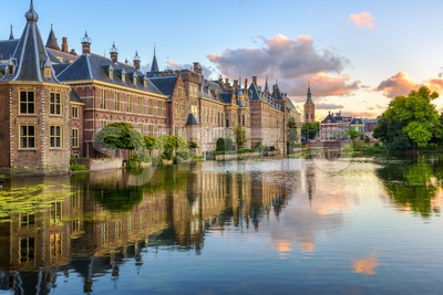 The Binnenhof castle in the Hague city, Netherlands Stock Photo