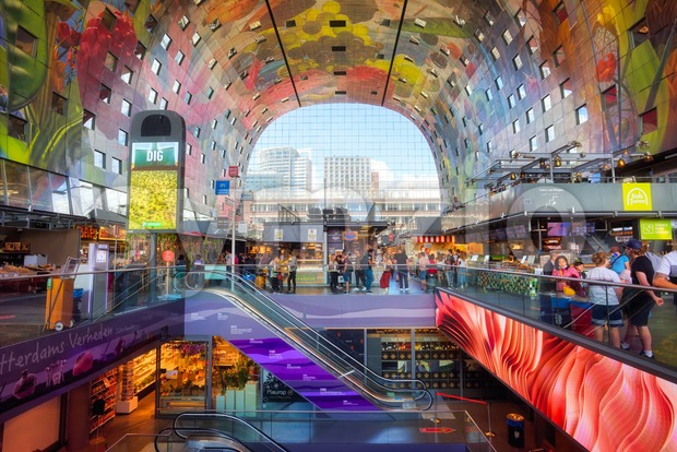 The Markthal building, Rotterdam, South Holland, Netherlands Stock Photo