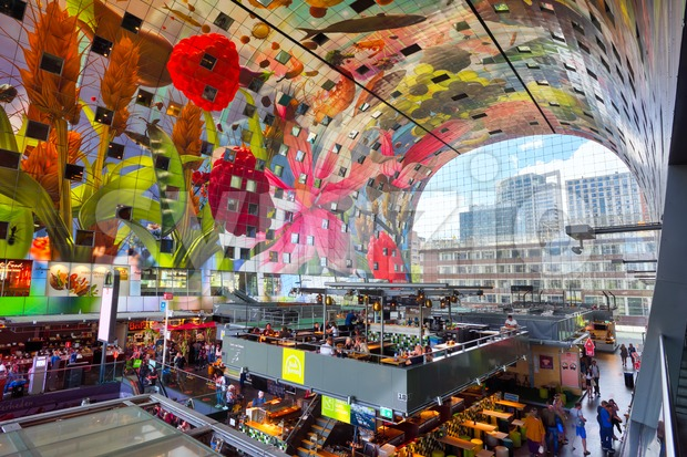 The Markthal in Rotterdam, Holland, Netherlands Stock Photo