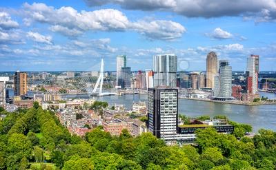 Rotterdam city, South Holland, Netherlands Stock Photo