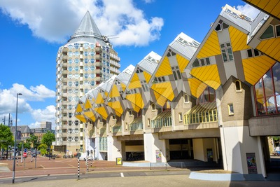 Cube houses in Rotterdam, Netherlands Stock Photo