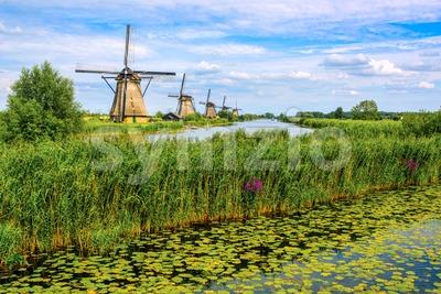 Kinderdijk windmills park, South Holland, Netherlands Stock Photo