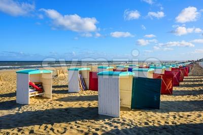 Atlantic coast sand beach in Katwijk aan Zee, Netherlands Stock Photo