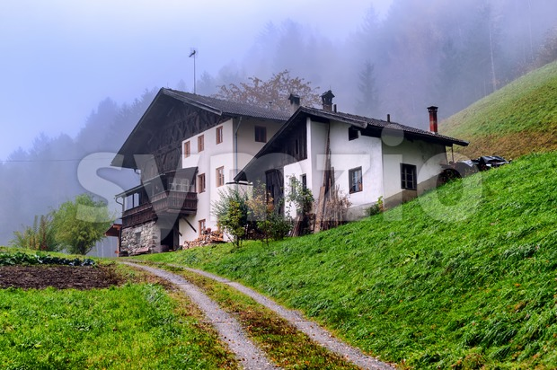 Traditional wooden house in Tyrol, Austria