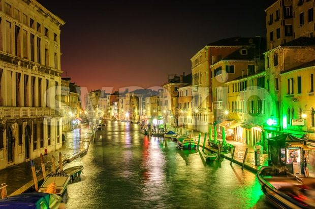 Venice, Italy, at night Stock Photo