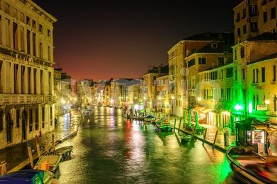 Venice, Italy, at night Stock Photo