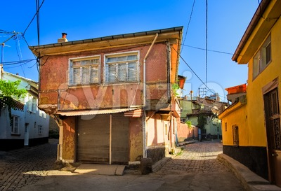 Old traditional ottoman house in Afyon, Turkey Stock Photo