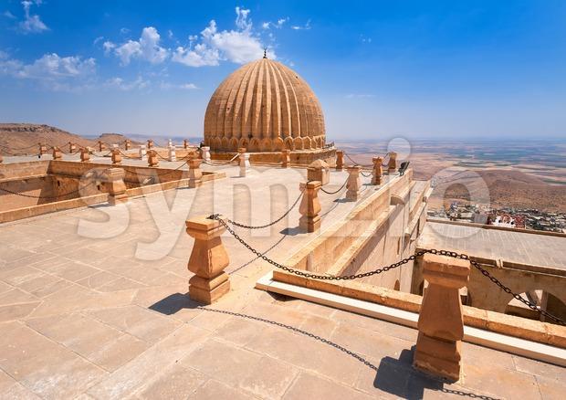 Dome of Zinciriye Medrese, Mardin, south east Turkey Stock Photo