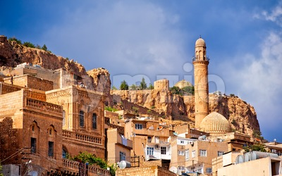 Old town of Mardin, small town near Diyarbakir on syrian border in Turkey Stock Photo
