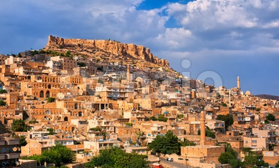 Panoramic view of Mardin, Turkey Stock Photo