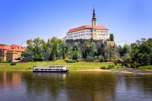 Tetschen Castle, Decin, Czech Republic Stock Photo