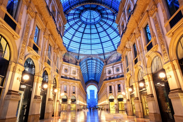 Galleria Vittorio Emanuele II, Milan, Italy Stock Photo