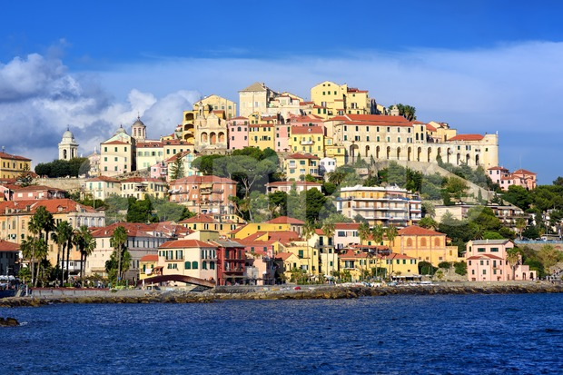 Porto Maurizio, the old town of Imperia, Italy Stock Photo