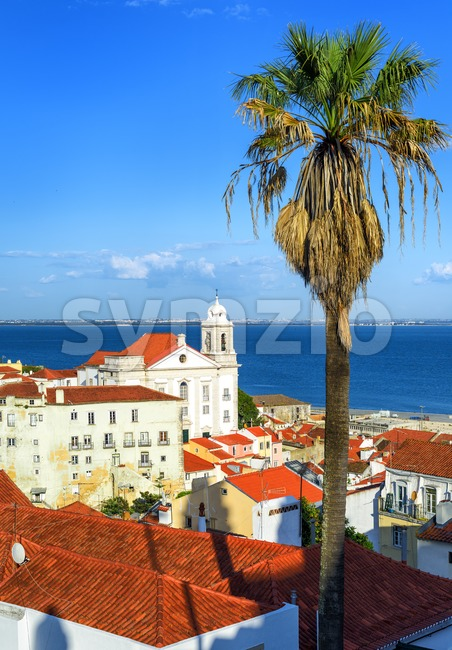 Alfama, the old quarter of Lisbon, Portugal Stock Photo