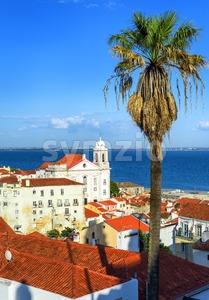 Alfama, the old quarter of Lisbon, Portugal Stock Photo