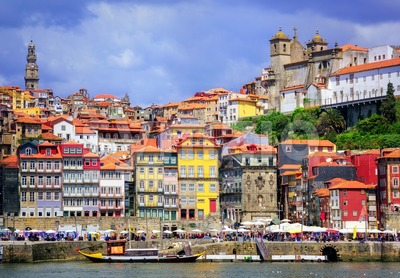 Ribeira, the old town of Porto, Portugal Stock Photo