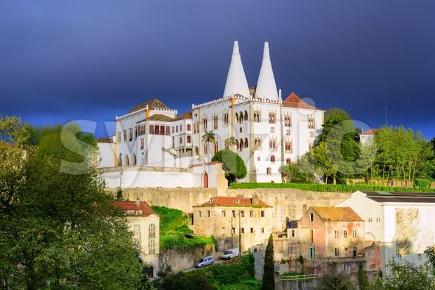 The National Palace, Sintra, Portugal Stock Photo