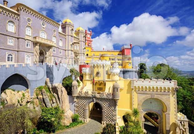 Pena palace, Sintra, Portugal Stock Photo