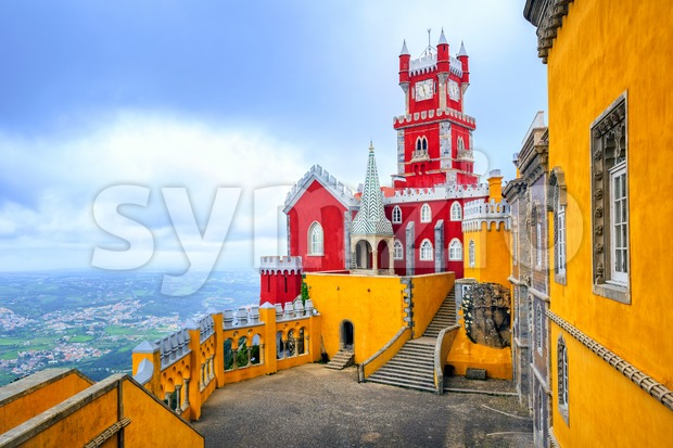 Pena Palace, Sintra, Portugal Stock Photo