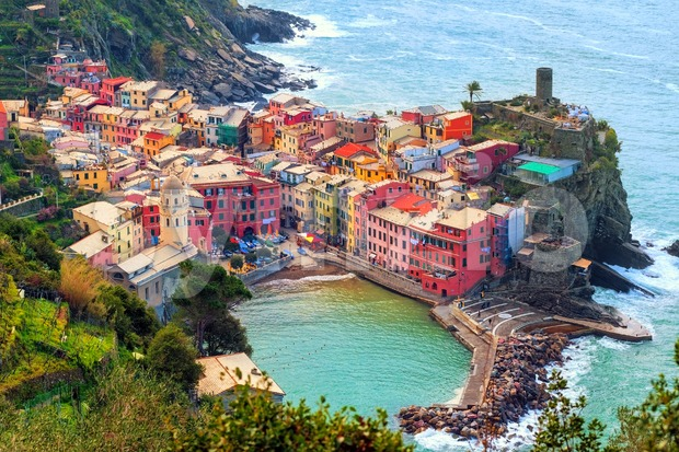 Vernazza in Cinque Terre, Italy Stock Photo