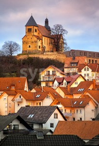 Old gothic german town Fulda by Frankfurt, Germany Stock Photo