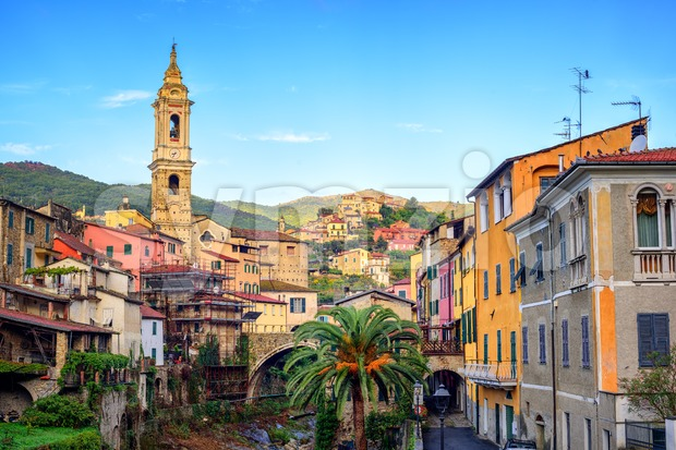 Dolcedo, small italian town in the Maritime Alps mountain, Liguria, Italy Stock Photo