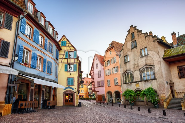 Colorful houses in Colmar, France Stock Photo