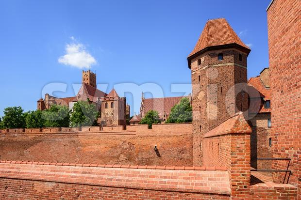The teutonic Knights Order castle in Malbork, Poland Stock Photo