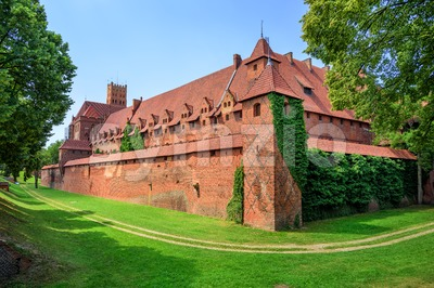 Castle of Teutonic Knights Order in Malbork, Poland Stock Photo