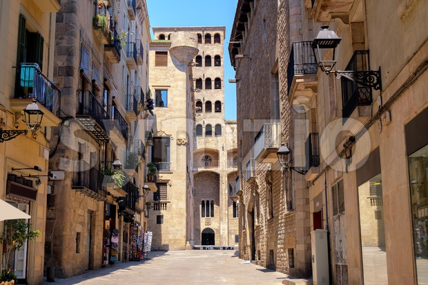 Old town of Barcelona, Spain Stock Photo