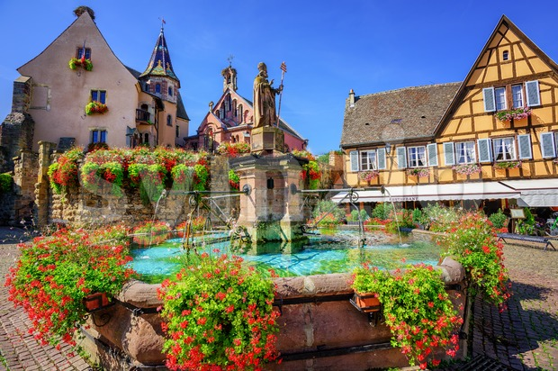 Eguisheim, France Stock Photo
